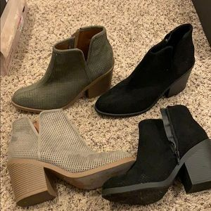 SET OF TWO Black and Grey Booties from Soda